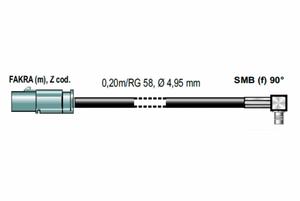 Bilde av ANTENNENSYSTEME Antenne adapter FAKRA (Han) - SMB (Hun)